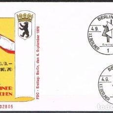 Sellos: [C0118] BERLÍN 1970; FDC FESTIVAL ARTÍSTICO (NS). Lote 245752535