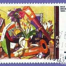Sellos: ALEMANIA. 1974. PINTURAS. BIG STILL-LIFE DE MAX BECKMANN. Lote 246034195