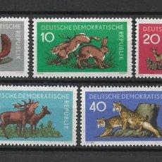 Sellos: DDR 1959 MICHEL 737/741 ** MNH - 4/9. Lote 246036905