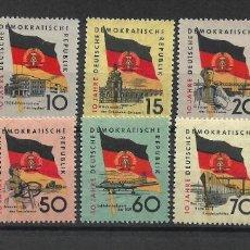 Francobolli: DDR 1959 MICHEL 722/731 ** MNH - 4/9. Lote 246036925