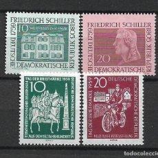 Sellos: DDR 1959 MICHEL 733/734 + 735/736 ** MNH - 4/9. Lote 246037015