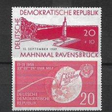 Sellos: DDR 1959 MICHEL 720 + 721 ** MNH - 4/9. Lote 246037135