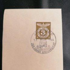 Sellos: ALEMANIA YVERT 762 MICHEL 830, EN FRAGMENTO, 1943, TERCER REICH. Lote 246206065