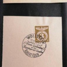 Sellos: ALEMANIA YVERT 762 MICHEL 830, EN FRAGMENTO, 1943, TERCER REICH. Lote 246206080