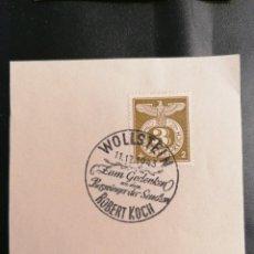 Sellos: ALEMANIA YVERT 762 MICHEL 830, EN FRAGMENTO, 1943, TERCER REICH. Lote 246206105