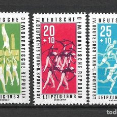 Sellos: DDR 1963 MICHEL 963/965 ** MNH - 4/17. Lote 246251575