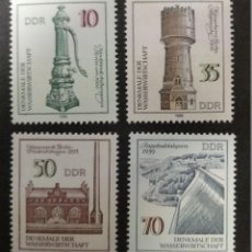 Sellos: ALEMANIA DDR 1986. ***MNH. MONUMENTOS DEL AGUA. Lote 247435030