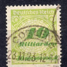 Sellos: -ALEMANIA IMPERIO, 1923 , MICHEL 328AP USED. Lote 289897013