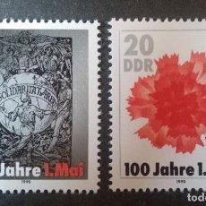 """Sellos: ALEMANIA DDR - 1990 -** MNH 100 AÑOS DEL """"DÍA DEL TRABAJO"""" (1 DE MAYO). Lote 248575415"""