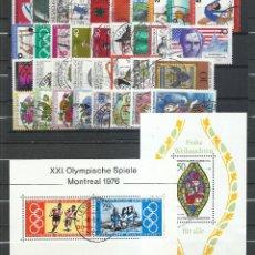 Timbres: ALEMANIA FEDERAL - 1976 - MICHEL 875/912 - USADO (AÑO COMPLETO) (VALOR DE CATALOGO.- 25.00€). Lote 248691245