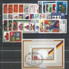 Timbres: ALEMANIA FEDERAL - 1974 - MICHEL 791/825 - USADO (AÑO COMPLETO) (VALOR DE CATALOGO.- 28.00€). Lote 248691420