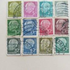 Sellos: REPUBLICA FEDERAL ALEMANA AÑO 1954. Lote 252771675