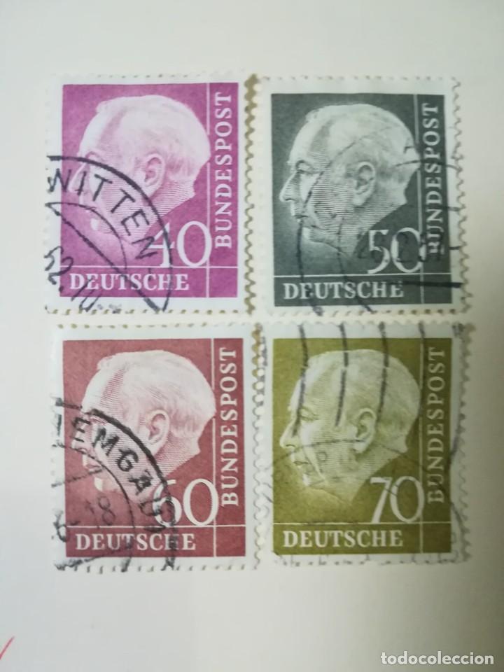 REPUBLICA FEDERAL ALEMANA AÑO 1954 YT 71 Y 71 A B C (Sellos - Extranjero - Europa - Alemania)