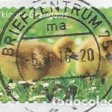 Sellos: ALEMANIA - 2016 - ANIMALES INFANTILES: GANSO GRIS - MI 3223 - USADO CON PAPEL DE LA CARTA. Lote 253735740