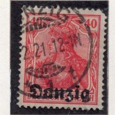 Timbres: DANZIG, CIUDAD LIBRE , 1920, MICHEL 6 USED. Lote 254486540
