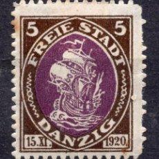 Timbres: DANZIG, CIUDAD LIBRE , 1921, MICHEL 53, MNH. Lote 254555530