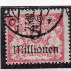 Timbres: DANZIG, CIUDAD LIBRE , 1923, MICHEL 166, USED. Lote 254750470