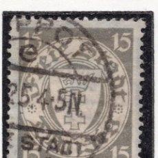 Timbres: DANZIG, CIUDAD LIBRE , 1924, MICHEL 195XA, USED. Lote 254772570
