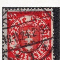 Timbres: DANZIG, CIUDAD LIBRE , 1924, MICHEL 196XA, USED. Lote 254772755