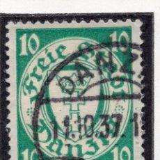 Timbres: DANZIG, CIUDAD LIBRE , 1932, MICHEL 194DX, USED. Lote 254773860