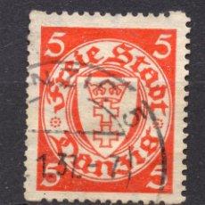 Timbres: DANZIG, CIUDAD LIBRE , 1923, MICHEL 125X, USED. Lote 254988015
