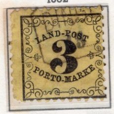 Sellos: ALEMANIA, ESTADOS ALEMANES, BADEN , 1863 , MICHEL , P2X. Lote 255326200