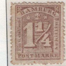 Sellos: ALEMANIA, ESTADOS ALEMANES, HAMBURGO , 1864 , MICHEL , 12AII. Lote 255328090