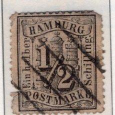 Sellos: ALEMANIA, ESTADOS ALEMANES, HAMBURGO , 1864 , MICHEL , 10. Lote 255328150