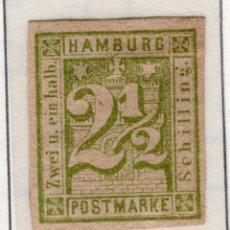 Sellos: ALEMANIA, ESTADOS ALEMANES, HAMBURGO , 1864 , MICHEL , 9. Lote 255328270