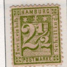 Sellos: ALEMANIA, ESTADOS ALEMANES, HAMBURGO , 1865 , MICHEL ,14 I. Lote 255328450