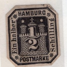Sellos: ALEMANIA, ESTADOS ALEMANES, HAMBURGO , 1872 , CORREO PRIVADO BOTEN INSTITUT MICHEL ,S/N. Lote 255328695