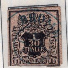 Sellos: ALEMANIA, ESTADOS ALEMANES, HANNOVER, 1851 , MICHEL ,3A. Lote 255329395