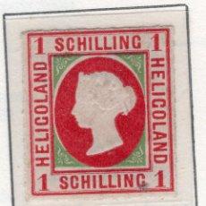 Sellos: ALEMANIA, ESTADOS ALEMANES, HGELIGOLAND, 1867 , MICHEL ,2. Lote 255329705