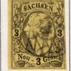 Sellos: ALEMANIA, ESTADOS ALEMANES, SAJONIA, 1855 , MICHEL ,11. Lote 255366980