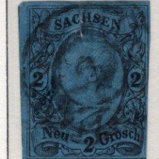 Sellos: ALEMANIA, ESTADOS ALEMANES, SAJONIA, 1855 , MICHEL ,10A. Lote 255367055