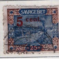 Sellos: ALEMANIA, SARRE, 1921 MICHEL 71A. Lote 255541060