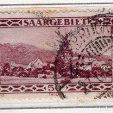Sellos: ALEMANIA, SARRE, 1927 MICHEL 114. Lote 255541315