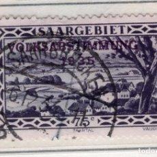 Sellos: ALEMANIA, SARRE, 1934 MICHEL 187. Lote 255541355