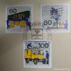 Sellos: ALEMANIA BERLÍN 1990. WELFARE: HISTORY OF POST AND TELECOMMUNICATIONS. Lote 257341875