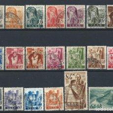 Sellos: SAAR N°196/215 OBL (FU) 1947 - SÉRIE COURANTE. Lote 257466640