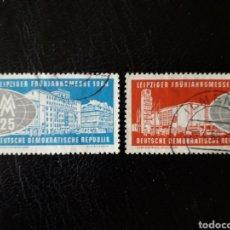 Sellos: ALEMANIA ORIENTAL DDR. YVERT 466/7 SERIE COMPLETA USADA. FERIA DE LEIPZIG PEDIDO MÍNIMO 3€. Lote 257470675
