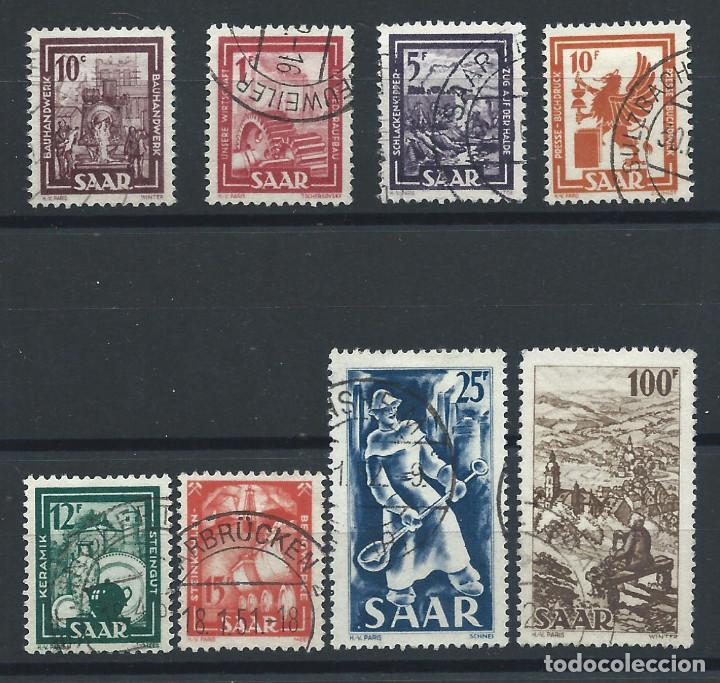 SAAR N°255/62 OBL (FU) 1949 - INDUSTRIES ET PAYSAGE (Sellos - Extranjero - Europa - Alemania)