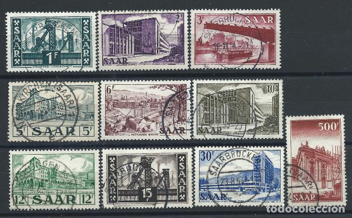 SAAR N°306/15 OBL (FU) 1952/53 - ARCHITECTURE (Sellos - Extranjero - Europa - Alemania)