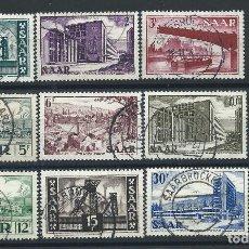 Sellos: SAAR N°306/15 OBL (FU) 1952/53 - ARCHITECTURE. Lote 257473095