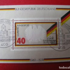 Sellos: ALEMANIA FEDERAL, 1974, HOJITA BLOQUE 25 ANIV. DE LA REPUBLICA FEDERAL, YVERT 9. Lote 257695515