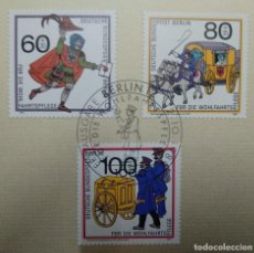 Sellos: ALEMANIA BERLÍN 1989. WELFARE: MAIL TRANSPORT THROUGH THE AGES. Lote 257731165