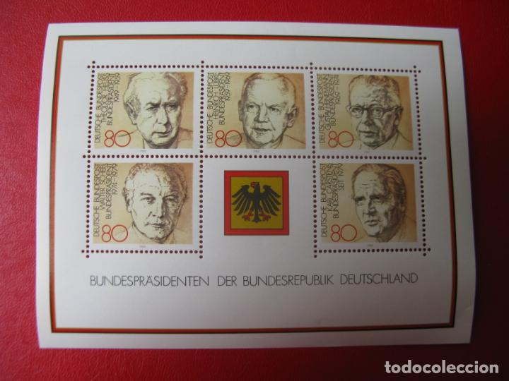 ALEMANIA FEDERAL, 1982, HOJA BLOQUE PRESIDENTES DE LA REPUBLICA FEDERAL, YVERT 17 (Sellos - Extranjero - Europa - Alemania)
