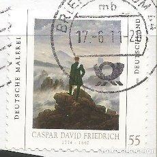 Sellos: ALEMANIA 2011 - PINTURA ALEMAN - CASPAR DAVID FRIEDRICH 1774 - 1840 - SELLO USADO CON PAPEL. Lote 257869400