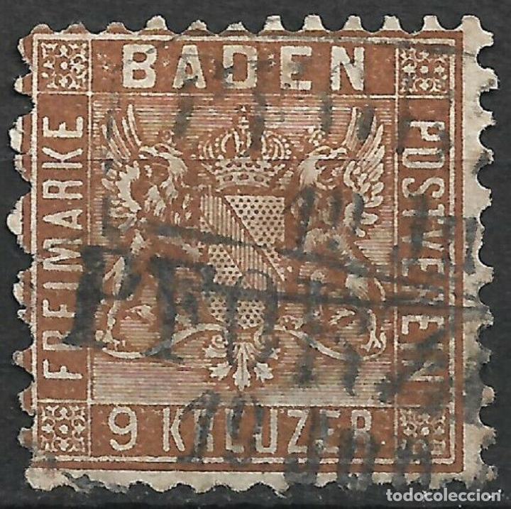 BADEN 1862 - 1863 Nº 15 C USADO 350€ - 18/26 (Sellos - Extranjero - Europa - Alemania)
