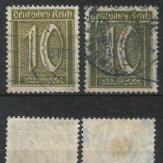 Sellos: IMPERIO ALEMÁN 1921 IM. NR 159 A + B GESTEMPEL - 18/27. Lote 257996515